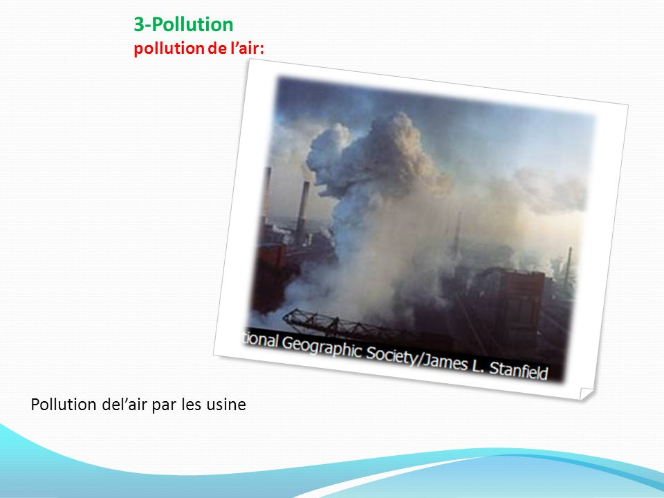 3-Pollution pollution de l'air: