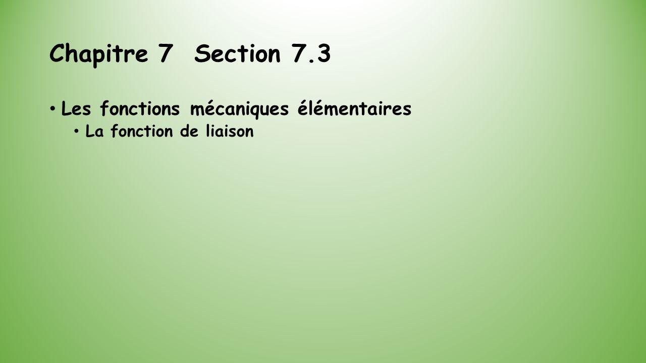 Chapitre 7 Section 7.3 Les fonctions mécaniques élémentaires