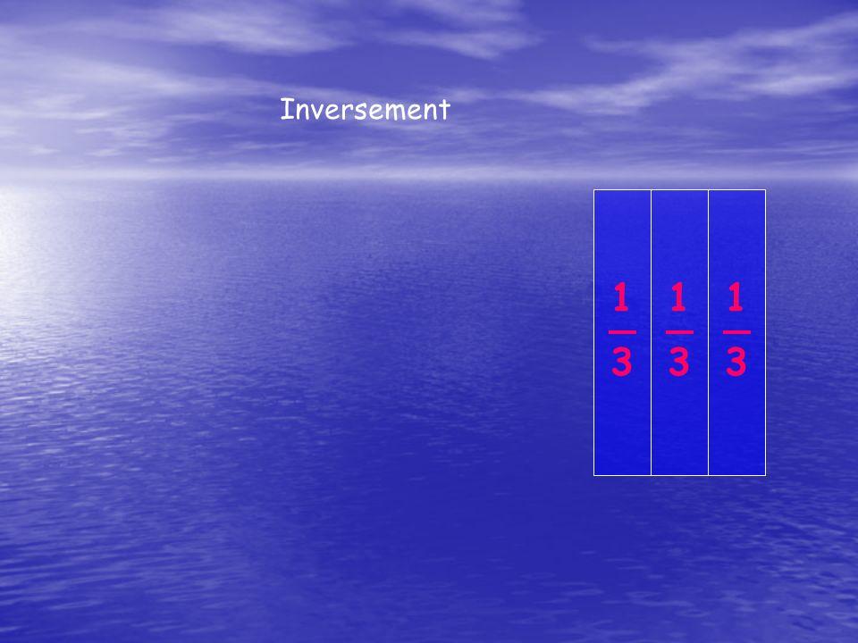 Inversement 1 3 1 3 1 3