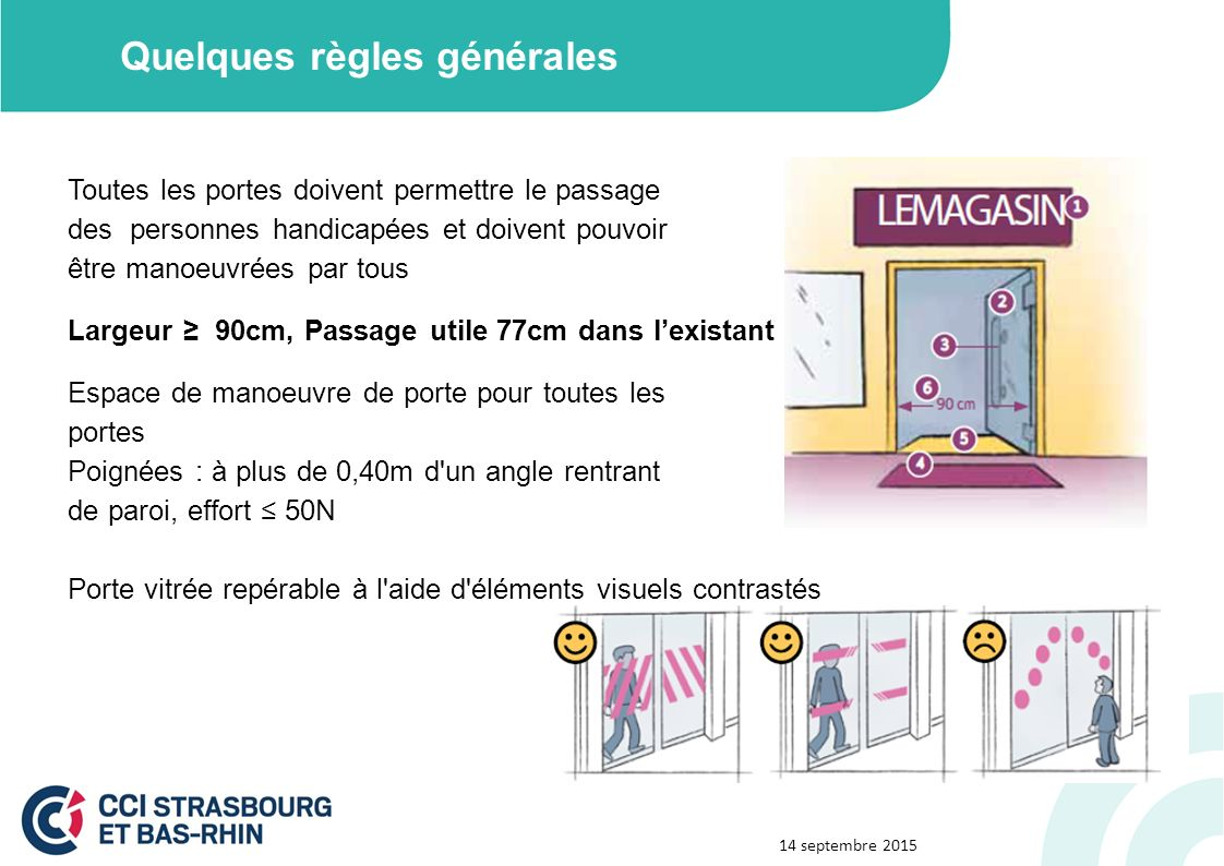 R union accessibilit ppt video online t l charger - Largeur de porte pour accessibilite handicape ...