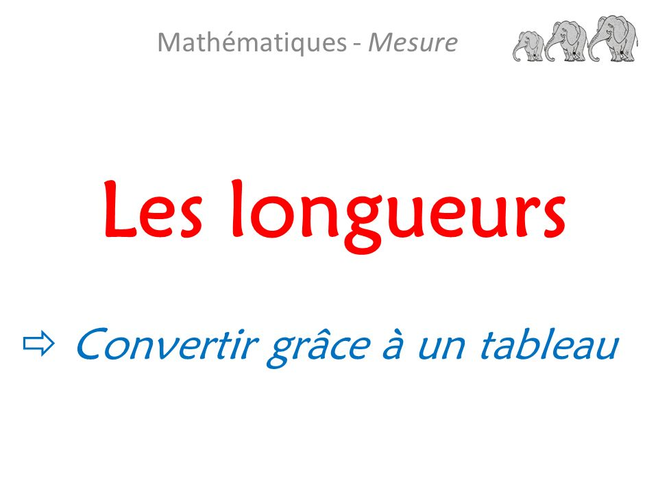 Mathématiques - Mesure