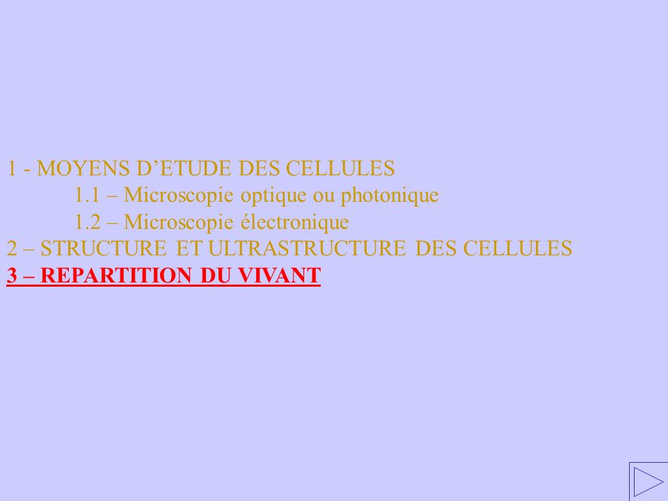 2 – STRUCTURE ET ULTRASTRUCTURE DES CELLULES