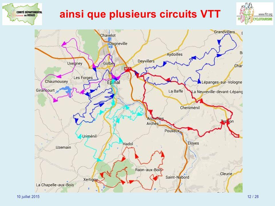ainsi que plusieurs circuits VTT