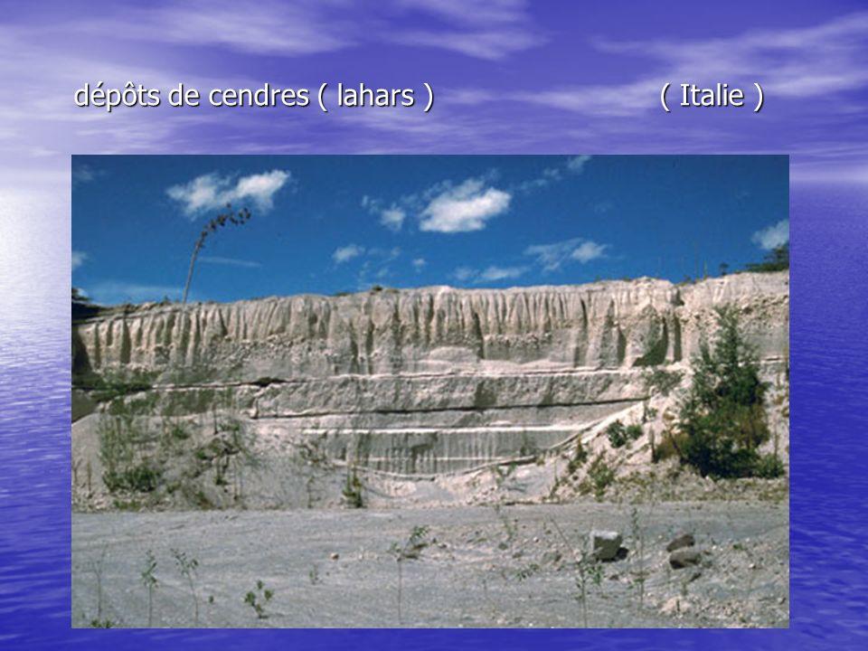 dépôts de cendres ( lahars ) ( Italie )