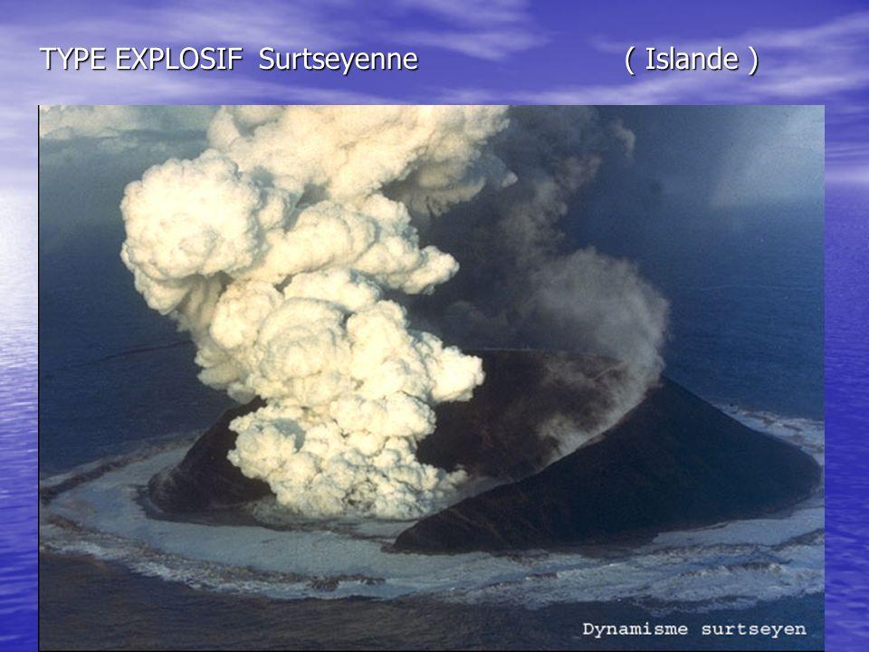 TYPE EXPLOSIF Surtseyenne ( Islande )