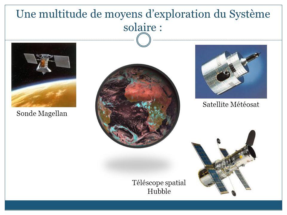 Une multitude de moyens d'exploration du Système solaire :