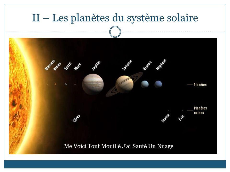 II – Les planètes du système solaire
