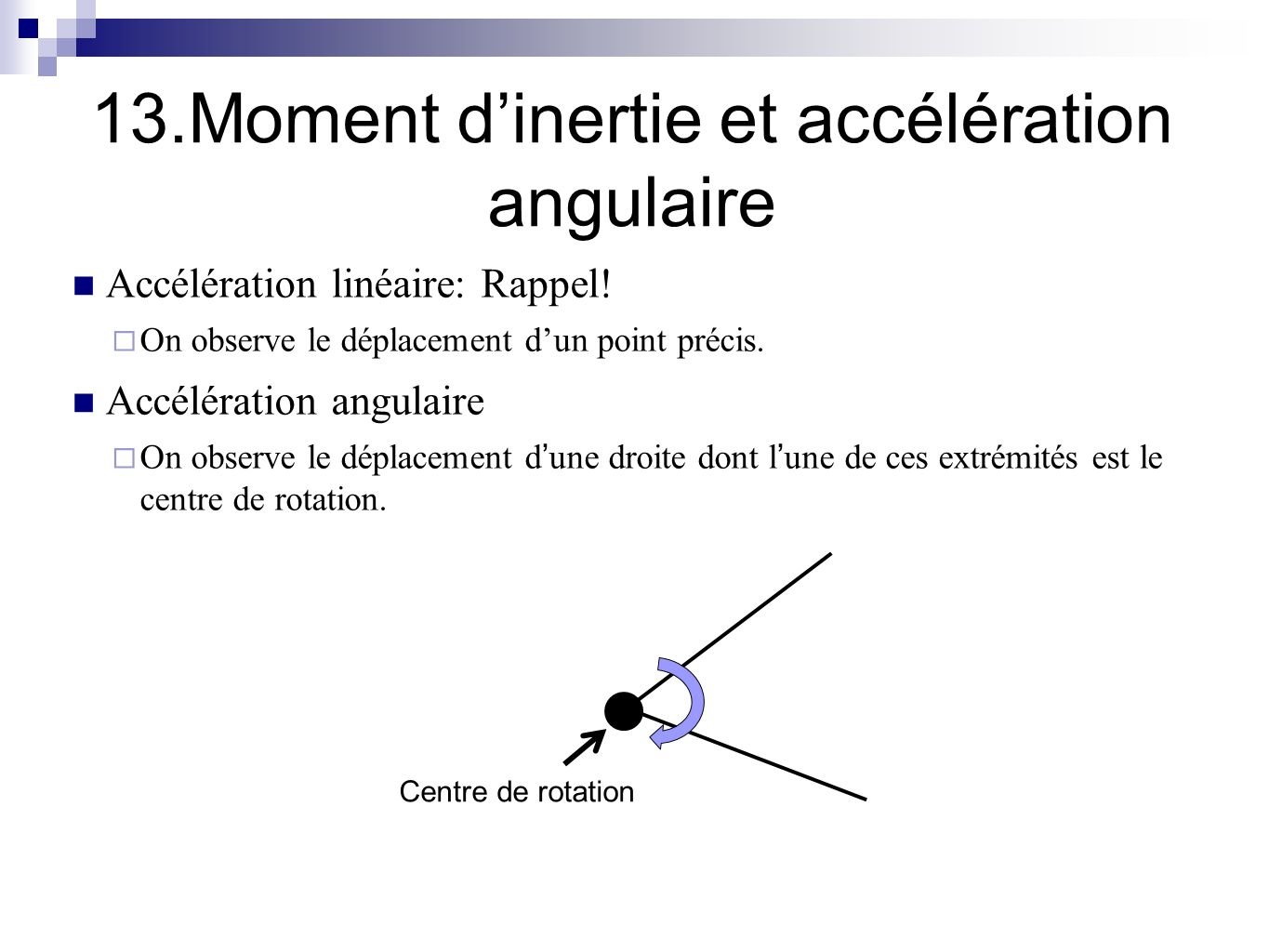 deplacement angulaire