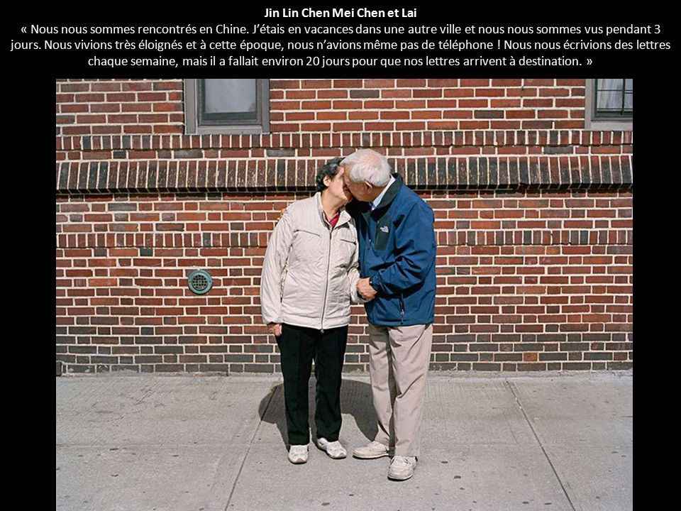 Jin Lin Chen Mei Chen et Lai « Nous nous sommes rencontrés en Chine