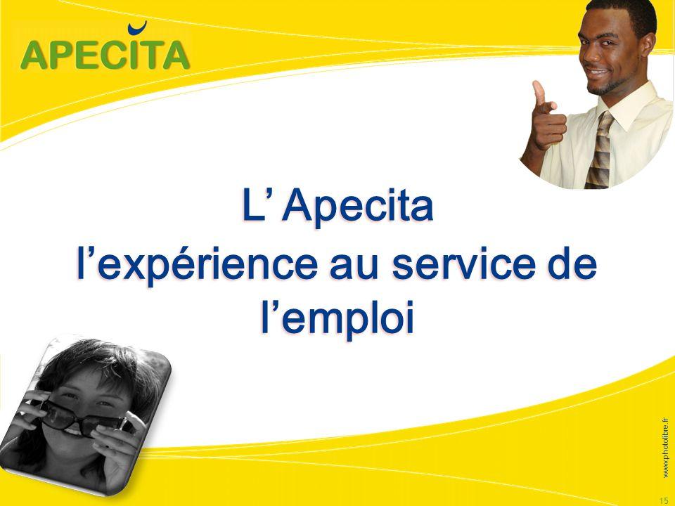 l'expérience au service de l'emploi
