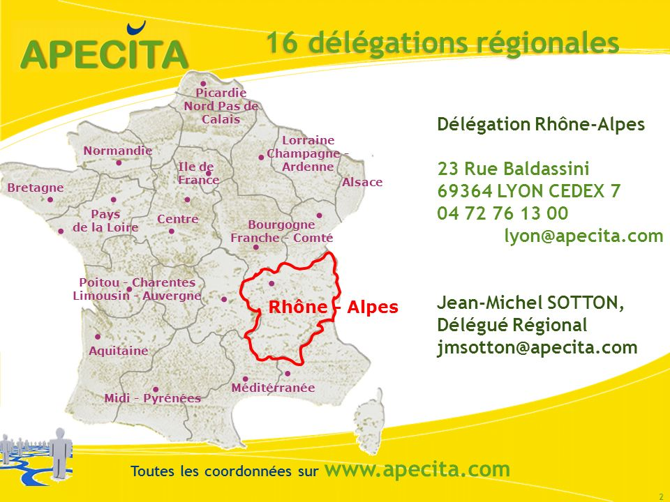 16 délégations régionales