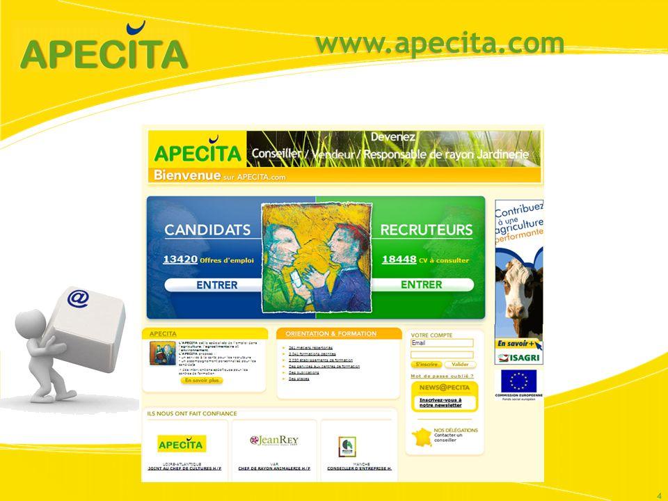 www.apecita.com Clic sur « votre compte » : lien vers page de présentation du compte apecita.
