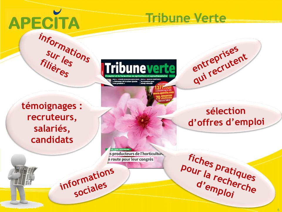 Tribune Verte informations sur les filières entreprises qui recrutent