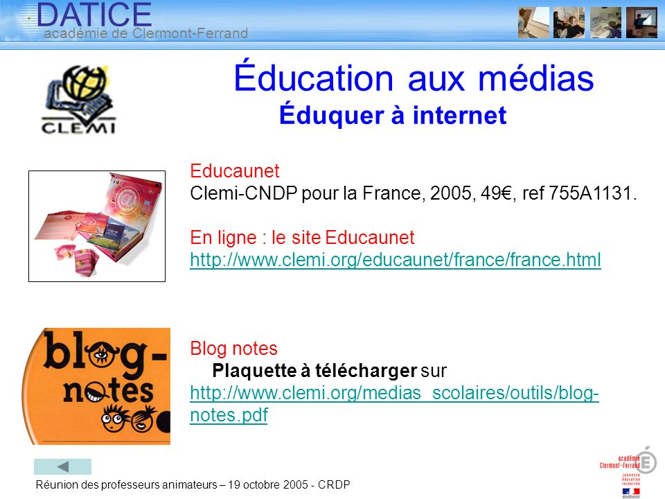 Éducation aux médias Éduquer à internet Educaunet