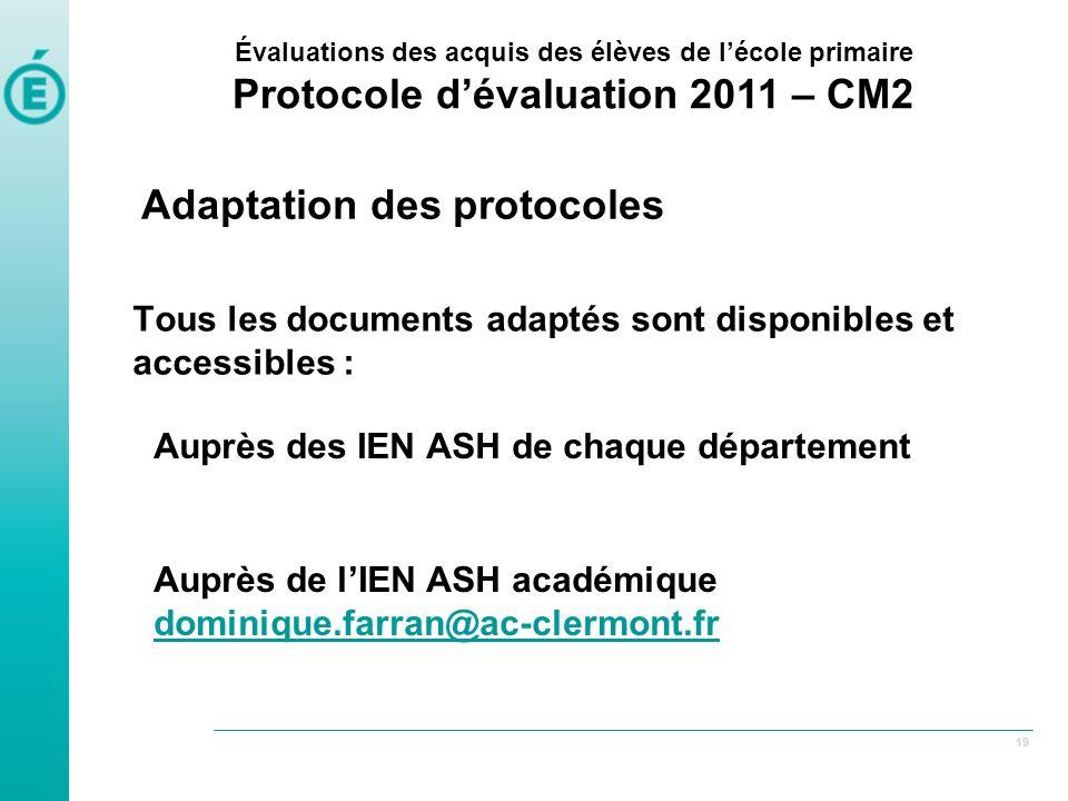Tous les documents adaptés sont disponibles et accessibles :
