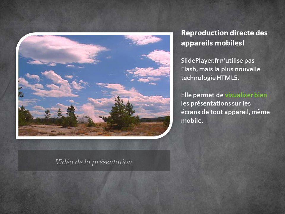 Vidéo de la présentation
