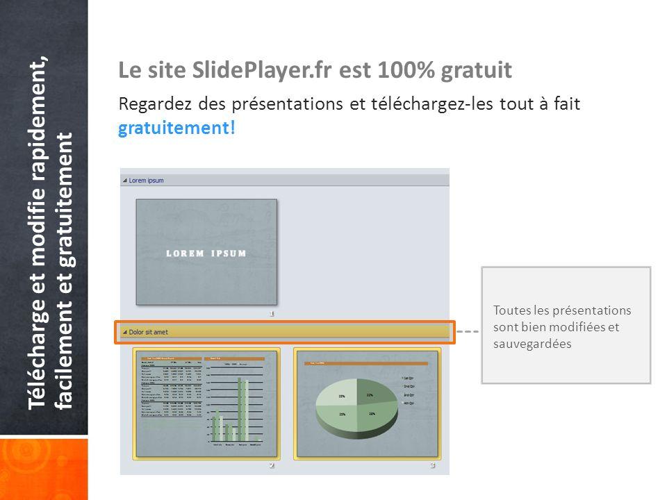 Le site SlidePlayer.fr est 100% gratuit