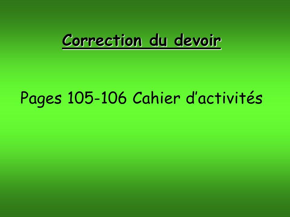 Pages 105-106 Cahier d'activités