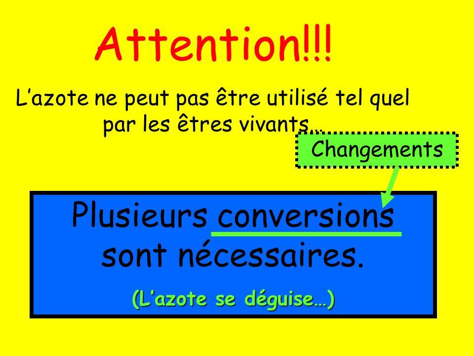 Attention!!! Plusieurs conversions sont nécessaires.