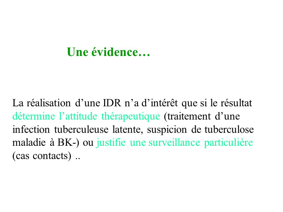 IDR Une évidence…