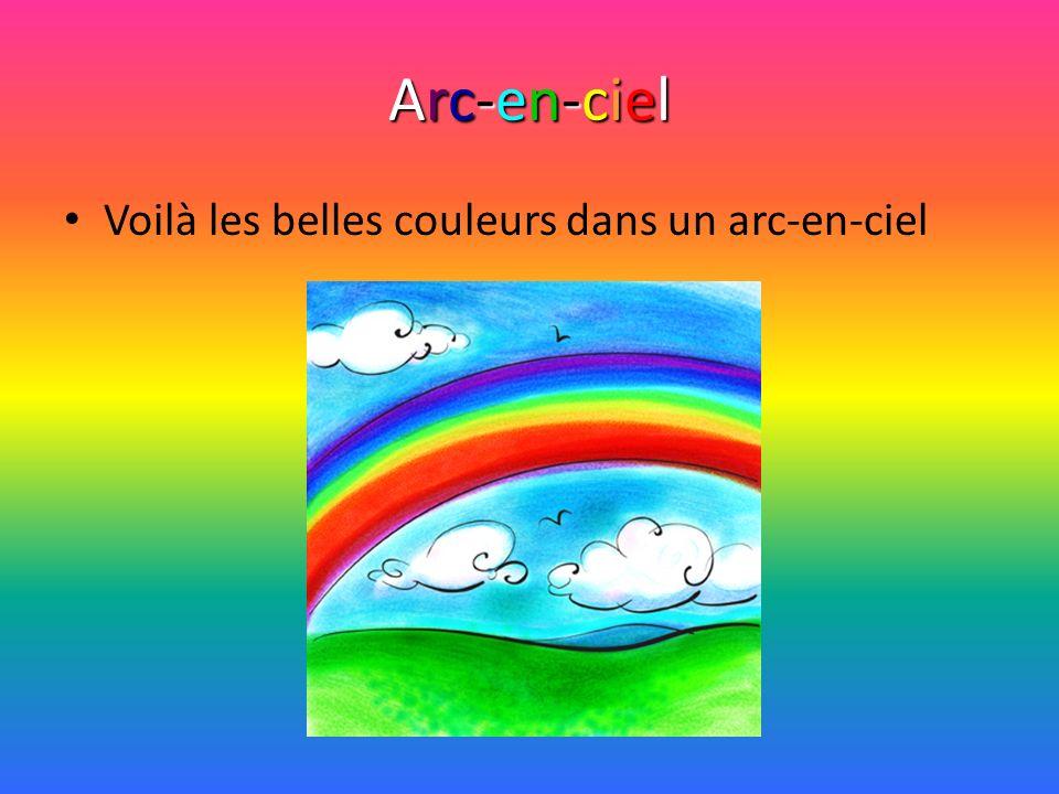 Arc-en-ciel Voilà les belles couleurs dans un arc-en-ciel