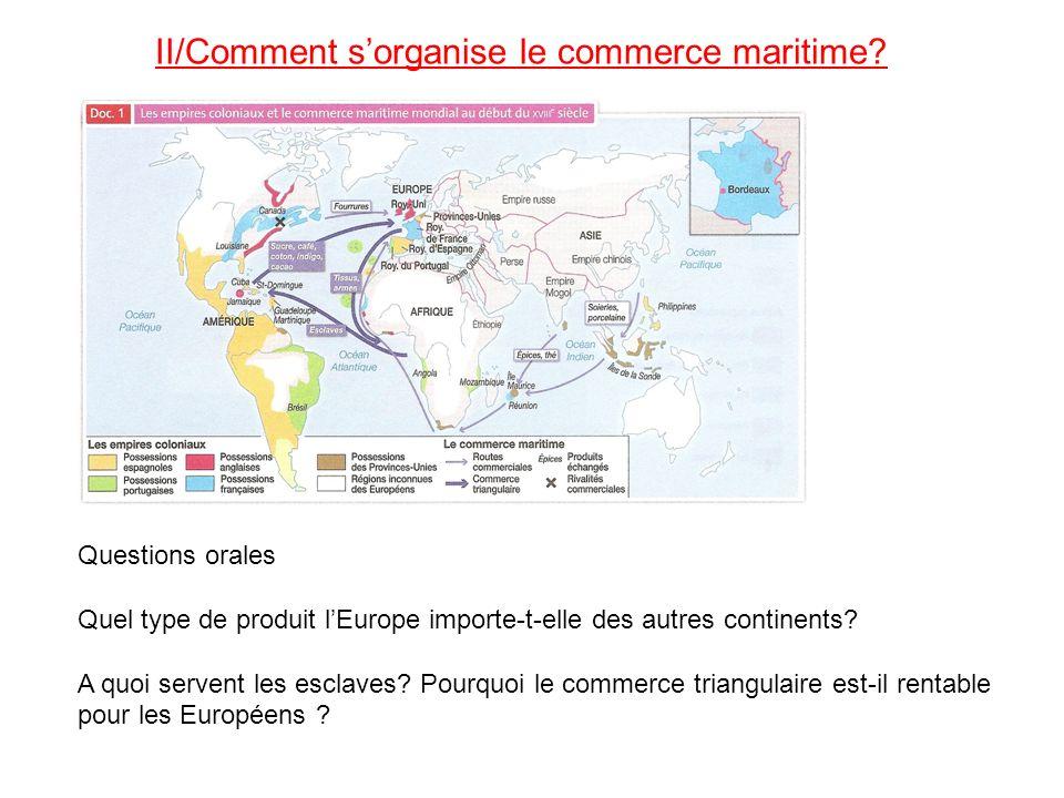II/Comment s'organise le commerce maritime