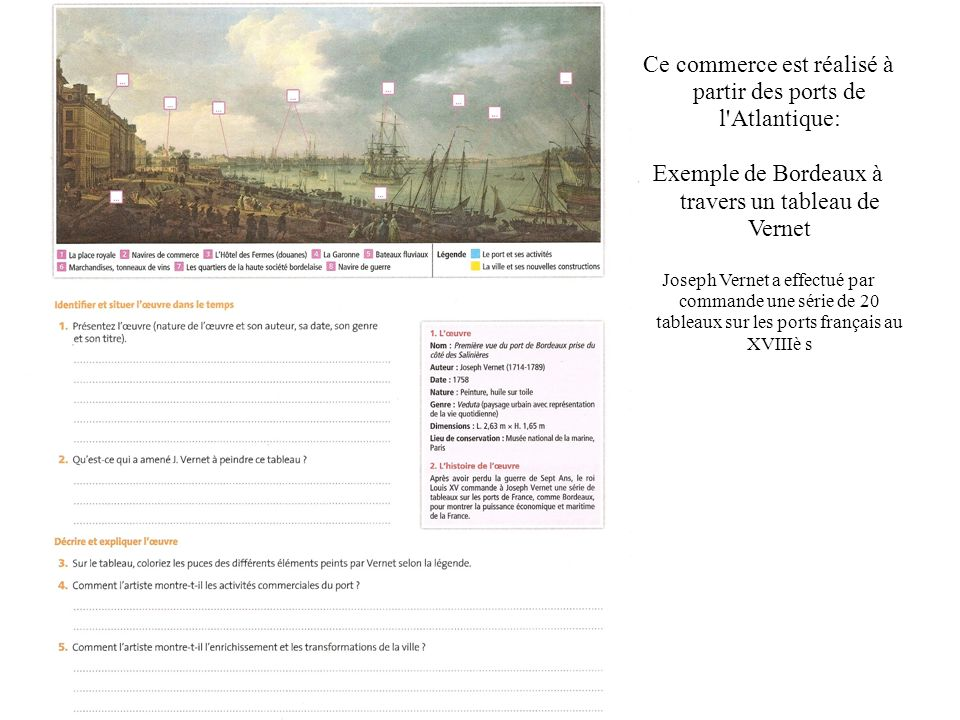 Chapitre histoire l europe et le monde au xviii me si cle ppt video online t l charger - Le port de bordeaux par joseph vernet ...