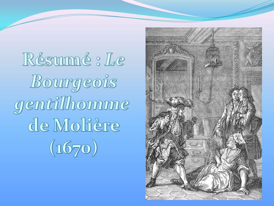 r u00e9sum u00e9   le bourgeois gentilhomme de moli u00e8re  1670