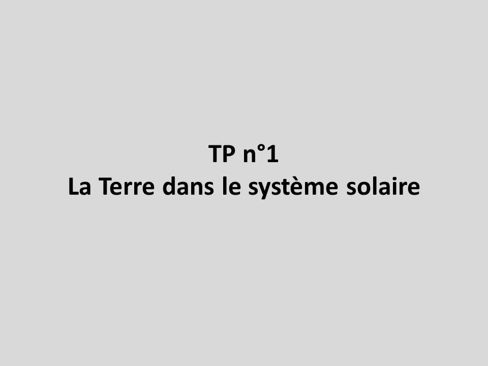 TP n°1 La Terre dans le système solaire