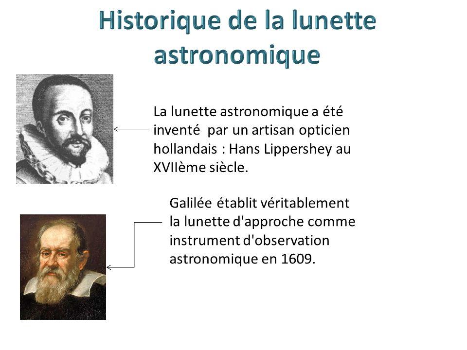 Historique de la lunette astronomique