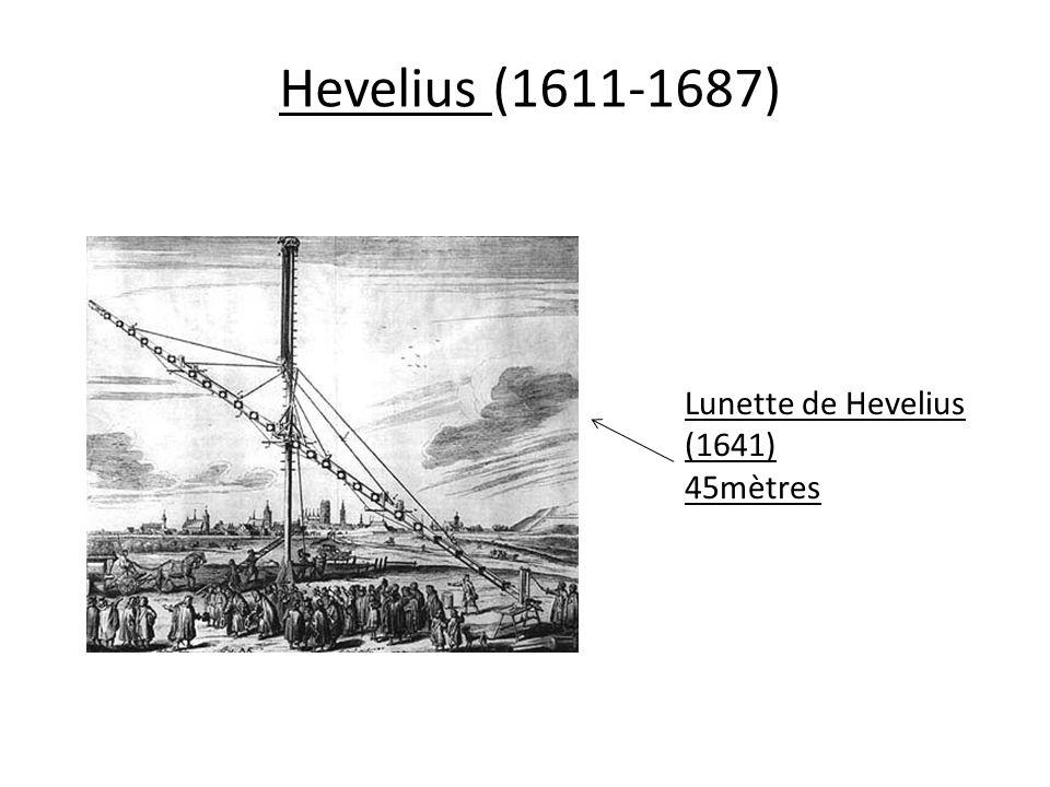 Hevelius (1611-1687) Lunette de Hevelius (1641) 45mètres