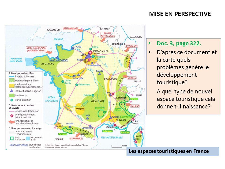 Partie 2 am nagement et d veloppement du territoire for Lieux touristiques france