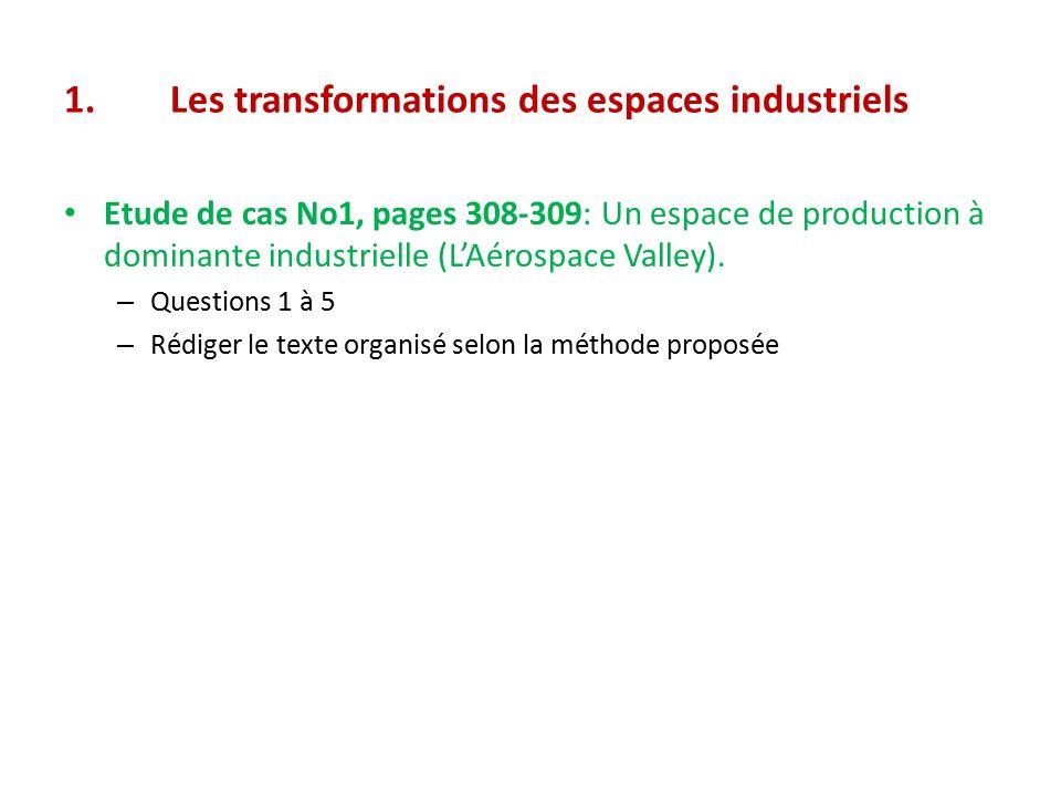 1. Les transformations des espaces industriels