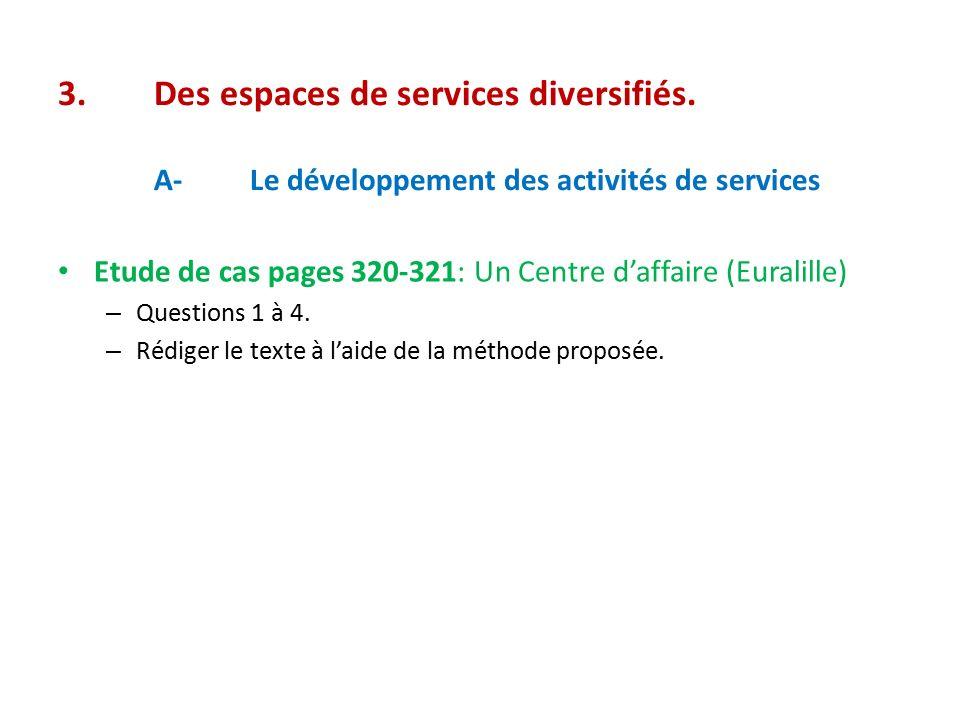 3. Des espaces de services diversifiés. A-