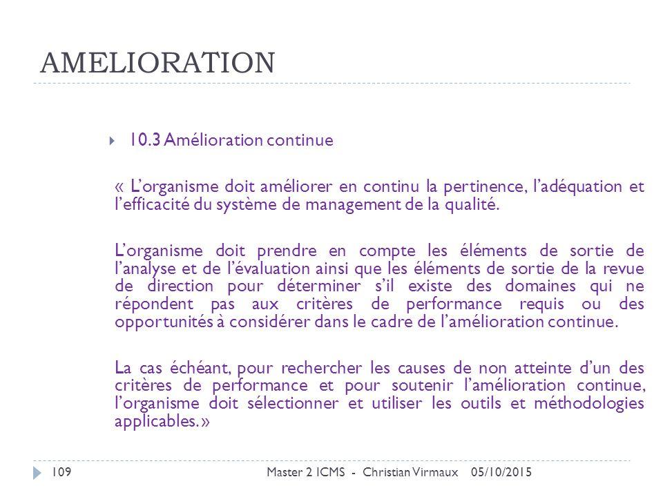 AMELIORATION 10.3 Amélioration continue