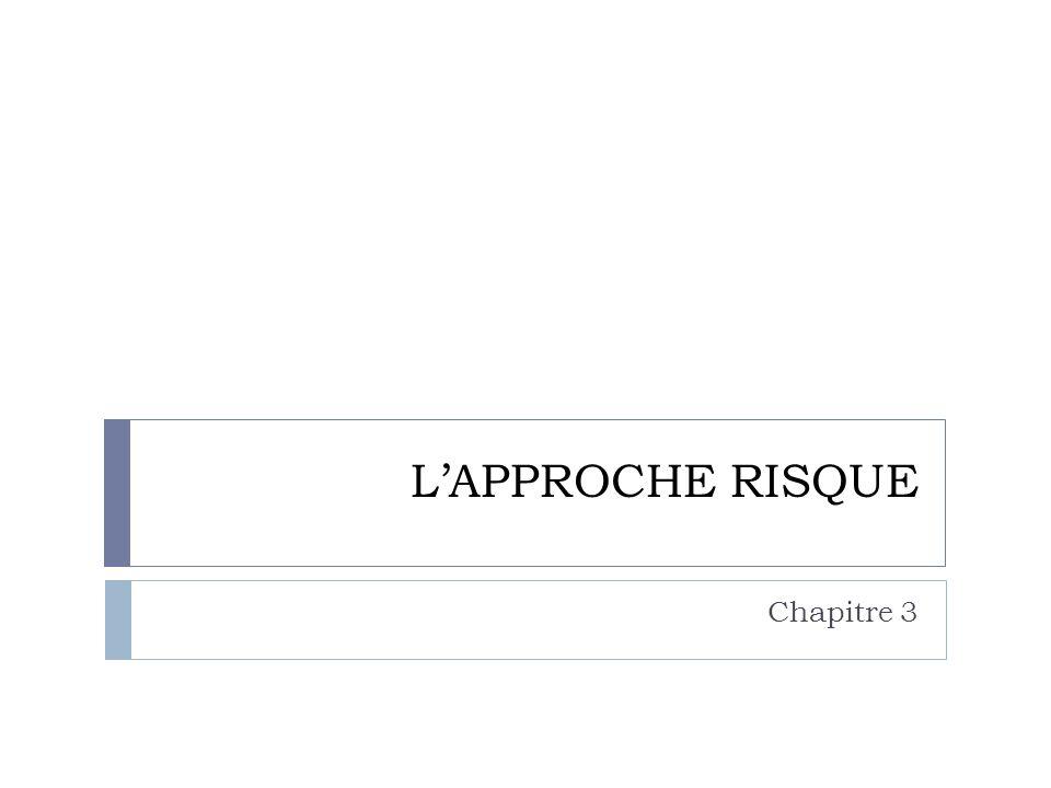 L'APPROCHE RISQUE Chapitre 3