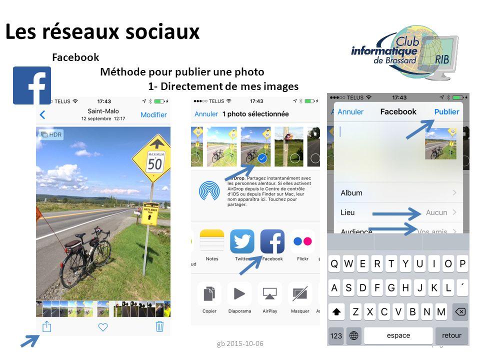 Les réseaux sociaux Facebook Méthode pour publier une photo