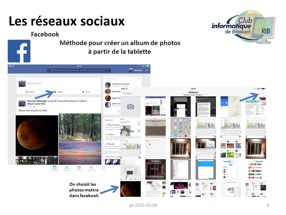 Les réseaux sociaux Facebook Méthode pour créer un album de photos