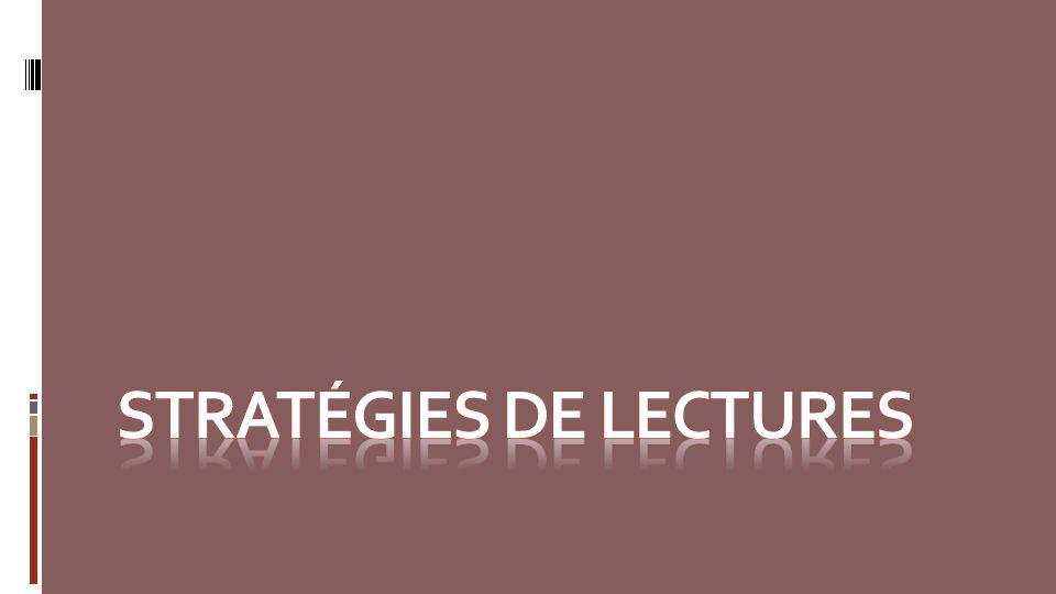 STRATÉGIES DE LECTURES