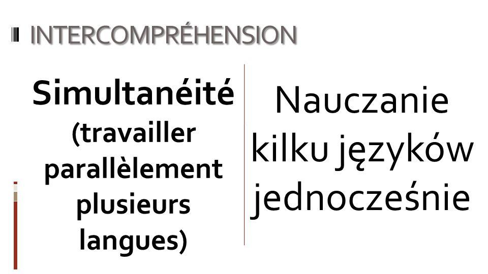 Simultanéité (travailler parallèlement plusieurs langues)