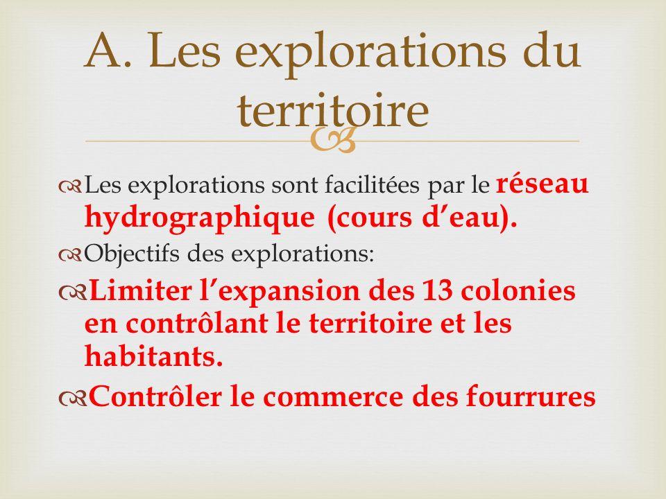 A. Les explorations du territoire