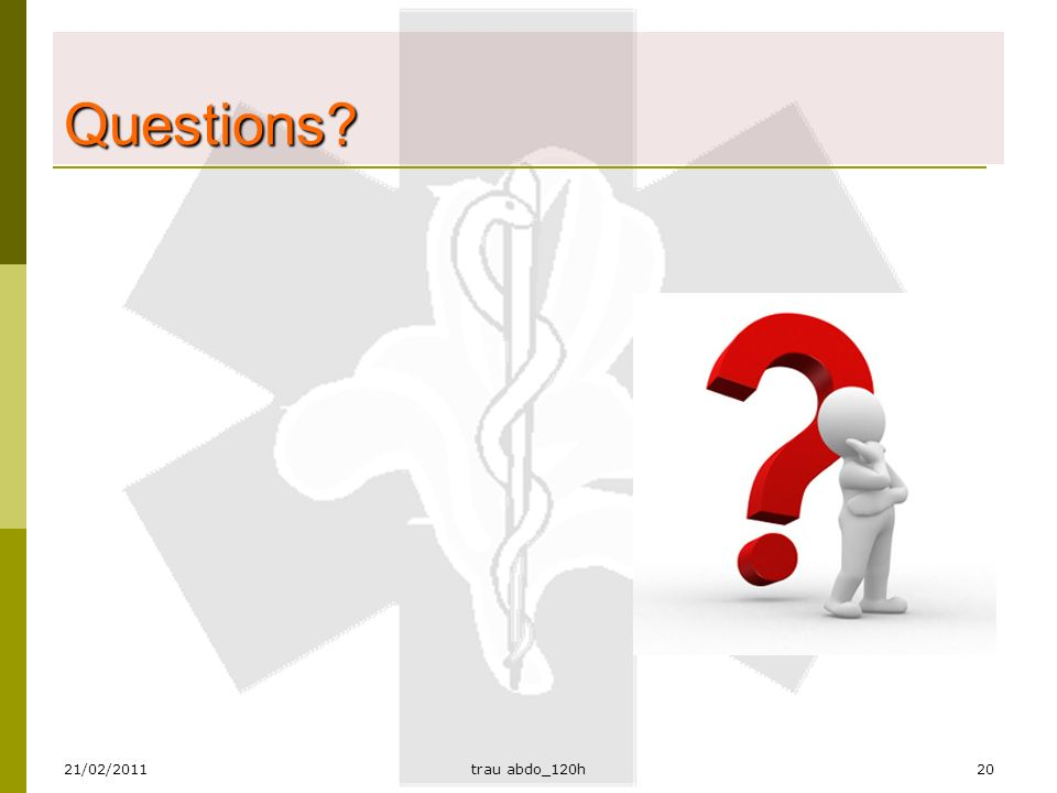 Questions 21/02/2011 trau abdo_120h