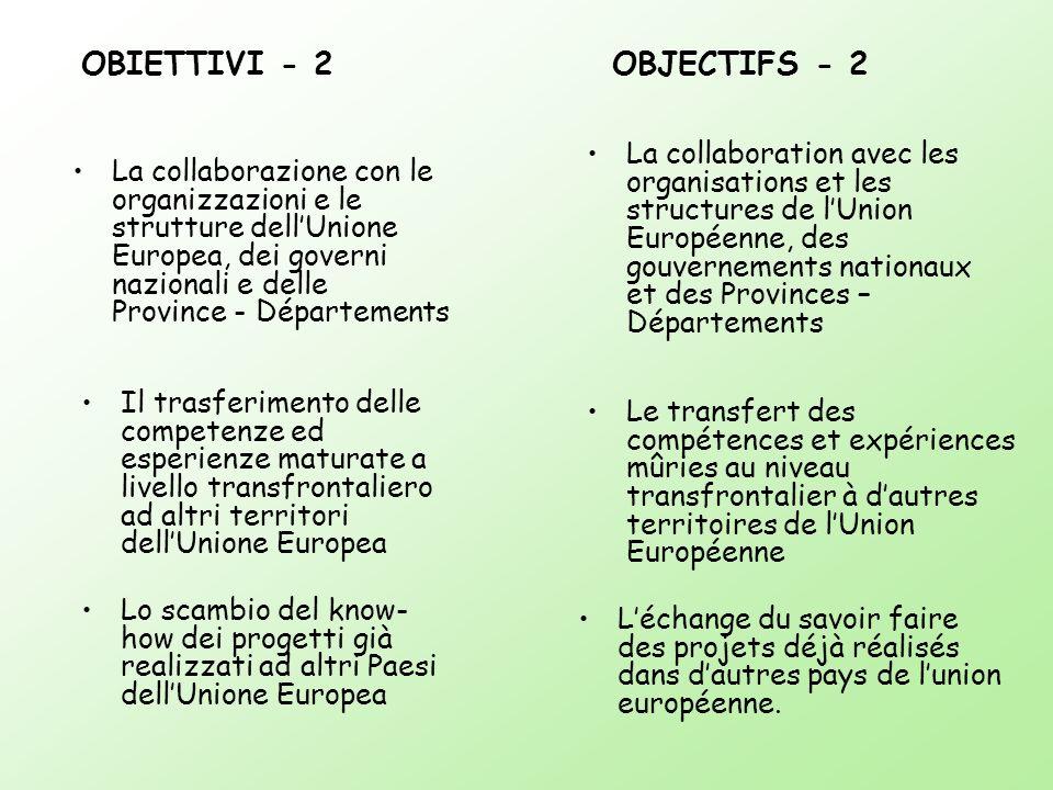 OBIETTIVI - 2 OBJECTIFS - 2