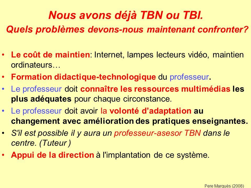 Nous avons déjà TBN ou TBI