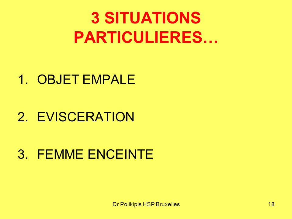 3 SITUATIONS PARTICULIERES…