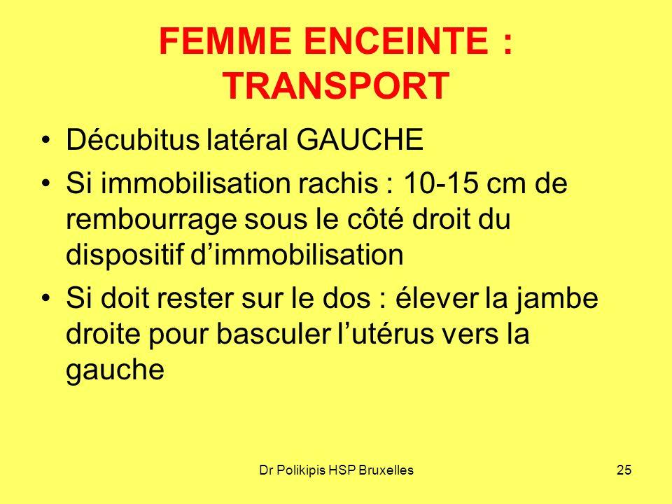 FEMME ENCEINTE : TRANSPORT