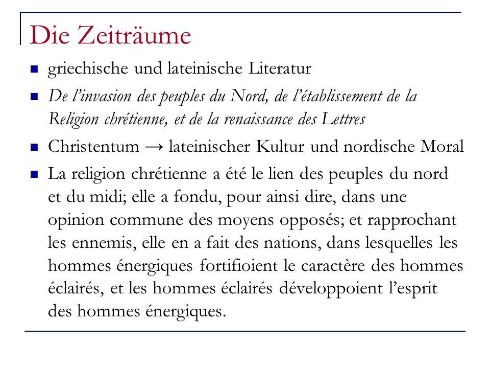 Die Zeiträume griechische und lateinische Literatur