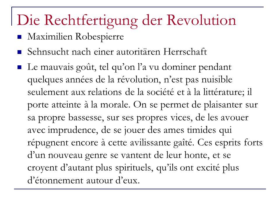 Die Rechtfertigung der Revolution