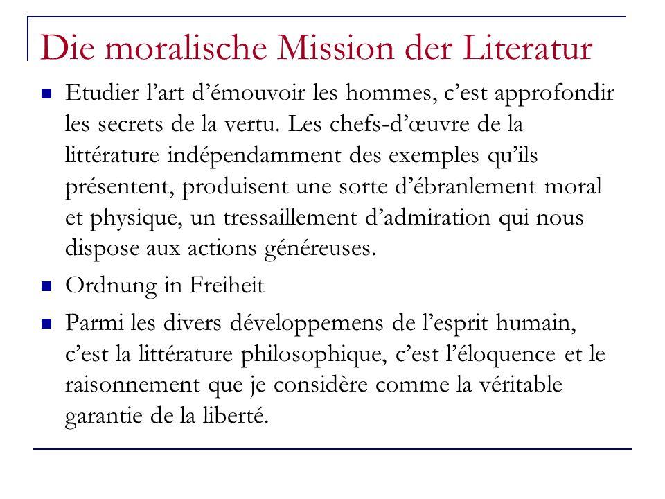Die moralische Mission der Literatur