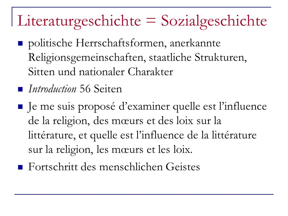 Literaturgeschichte = Sozialgeschichte